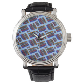 Modern Abstract Art Blue Background Watches