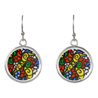 Modern Abstract Art Earrings