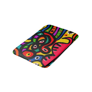 Modern Abstract Art Face Bath Mat