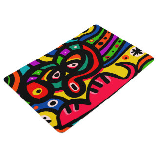 Modern Abstract Art Face Floor Mat