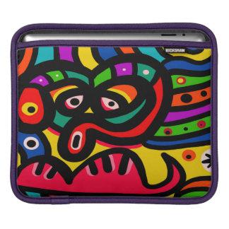 Modern Abstract Art Face iPad Sleeve