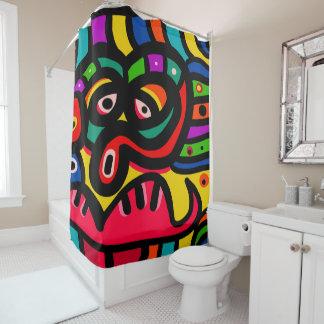 Modern Abstract Art Face Shower Curtain