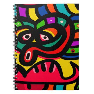 Modern Abstract Art Face Spiral Notebook