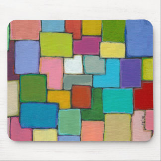 Modern abstract art fun colorful unique original mouse pad