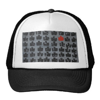 Modern abstract art mesh hats