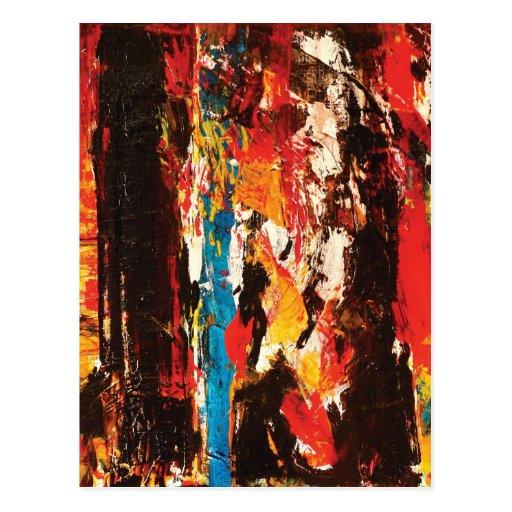 Modern Abstract Art Post Card