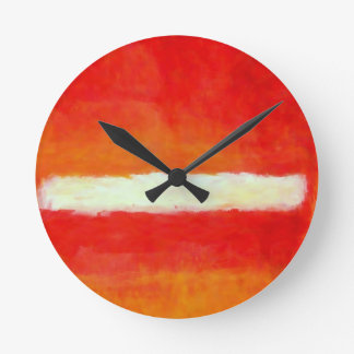 Modern Abstract Art - Rothko Style Round Clock