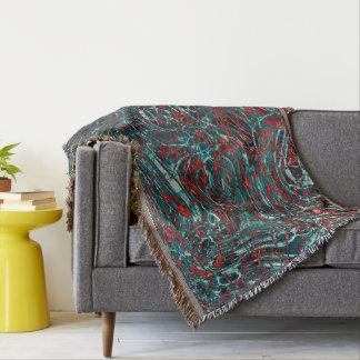 Modern Abstract Art Wavy Whirl Pattern Throw Blanket