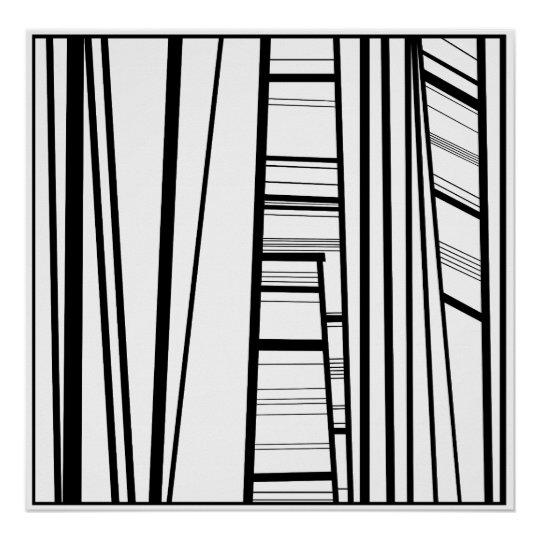 modern abstract b/w poster