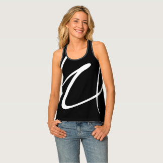 Modern Abstract Black And White Tank Top