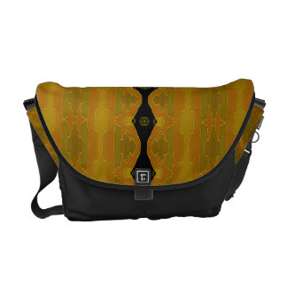 Modern Abstract Black Gold Olive Courier Bags