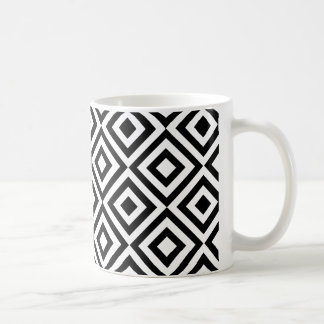 Modern abstract black white geometric pattern coffee mug