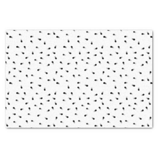 Modern abstract black white paint polka dots tissue
