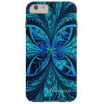 Modern Abstract Blue Green Fractal iPhone 6 Case