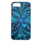 Modern Abstract Blue Green Fractal iPhone 8/7 Case