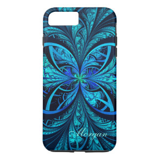 Modern Abstract Blue Green Fractal iPhone 8/7 Case
