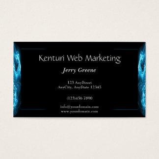 Modern Abstract Blue Hi Tech Business Card