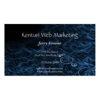 Modern Abstract Blue Lens Business Card