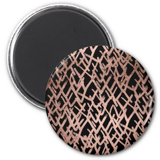 Modern abstract chevron faux rose gold pattern 6