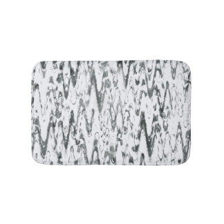 Modern Abstract Chevrons Monochromatic Bath Mat