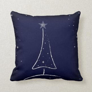 Modern Abstract Christmas Tree Cushion