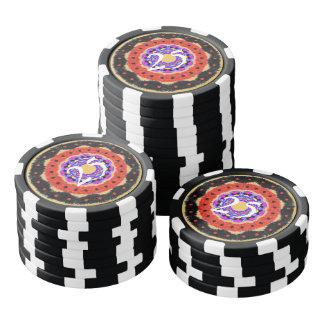 Modern abstract circle pattern poker chips