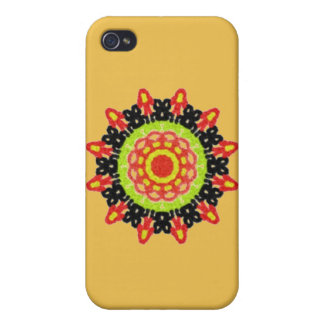 Modern abstract colorful pattern iPhone 4 case