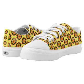 Modern abstract colorful pattern low tops