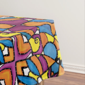 Modern Abstract Colorful Pattern Tablecloth