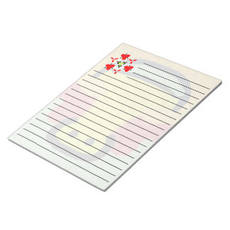 Modern abstract colorful patternn notepad