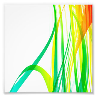 Modern Abstract Colorful Swirls Photograph