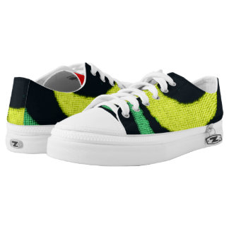Modern abstract colorful unique pattern printed shoes