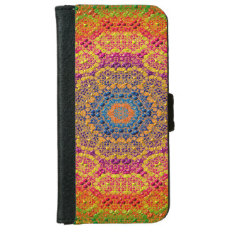 Modern Abstract Concentric Pattern Tile iPhone 6 Wallet Case