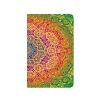Modern Abstract Concentric Pattern Tile Journal