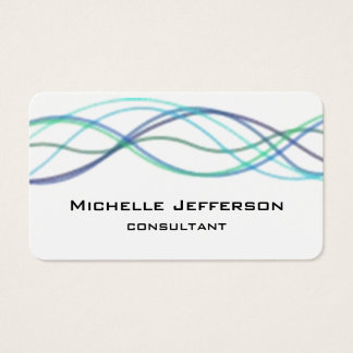 Modern Abstract Curves Modern Style Trendy Business Card