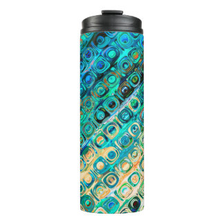 Modern Abstract Design Thermal Tumbler