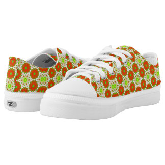 Modern abstract different pattern low tops