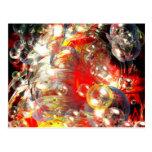 Modern Abstract Digital Art Postcard