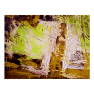 Modern Abstract Expressionist Poster Print