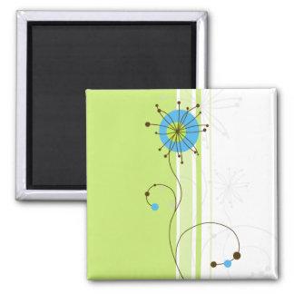 Modern Abstract Floral Design - Magnet