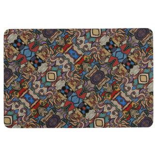 Modern Abstract Floral Pattern Floor Mat
