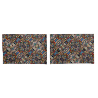 Modern Abstract Floral Pattern Pillowcase