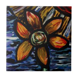 Modern Abstract Flower Tile