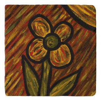 Modern Abstract Flower Trivets