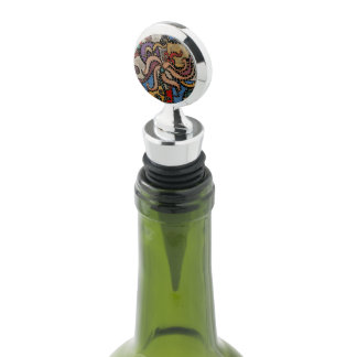 Modern Abstract Flower Wine Stopper
