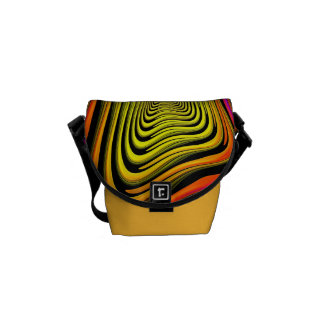 Modern Abstract Funky Mini Messenger Bag