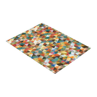 Modern Abstract Geometric Mosaic Doormat