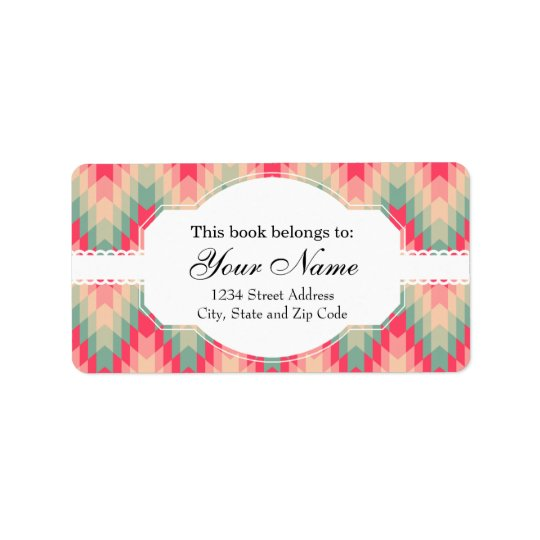 Modern Abstract Geometric Pattern Address Label