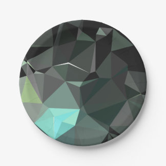 Modern Abstract Geometric Pattern - Awe Cathedral Paper Plate