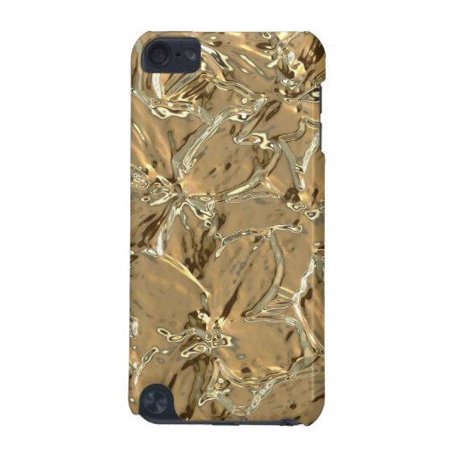 Modern Abstract Gold Metal Flower Design iPod Touch 5G Cover